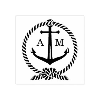 Anchor Monogram | Wedding Rubber Stamp