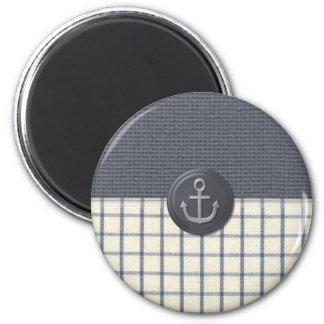 Anchor Nautical 6 Cm Round Magnet