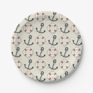 Anchor Nautical 7 Inch Paper Plate