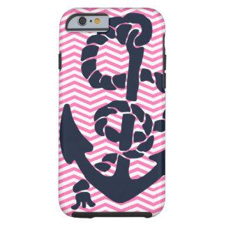 Anchor Nautical Pink Navy Chevron iPhone 6 case 4  Tough iPhone 6 Case
