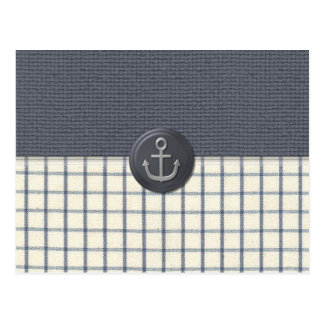 Anchor Nautical Postcard