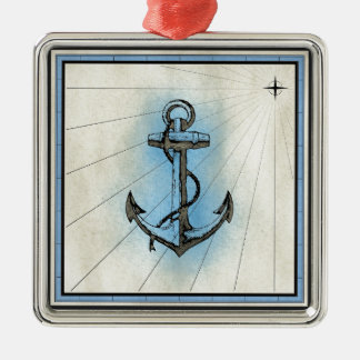 Anchor Nautical Sea Christmas Ornament