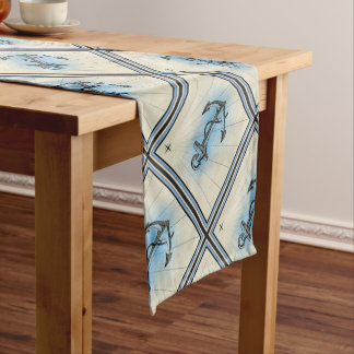 Anchor Nautical Sea Short Table Runner