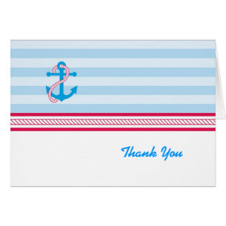 Anchor Nautical Thank You Card
