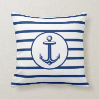 Anchor Striped Cushion
