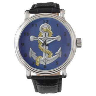 Anchor Navy Blue Wrist Watch