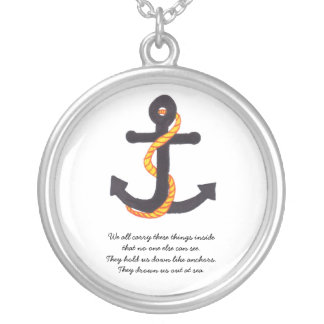 Anchor Necklace With Quote