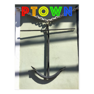 Anchor on Commercial Street. Postcard