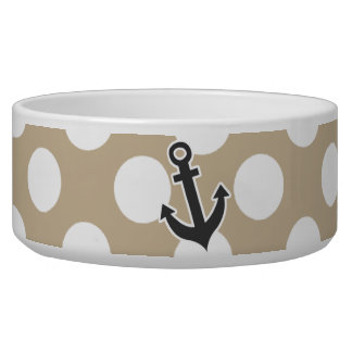 Anchor on Khaki Polka Dots