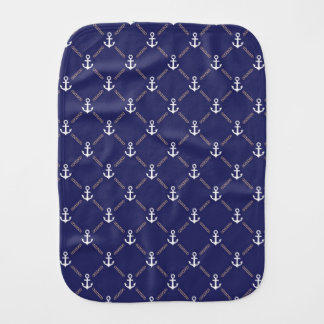 Anchor pattern burp cloth