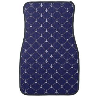 Anchor pattern car mat