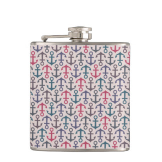 Anchor pattern hip flask