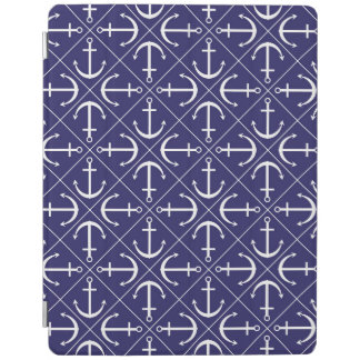 Anchor pattern iPad cover