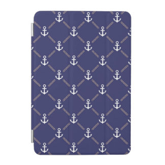 Anchor pattern iPad mini cover