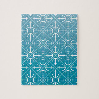 Anchor pattern jigsaw puzzle
