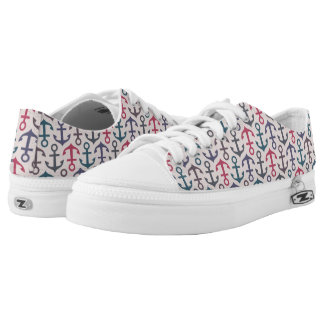Anchor pattern low tops