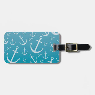 Anchor pattern luggage tag