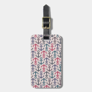 Anchor pattern luggage tag