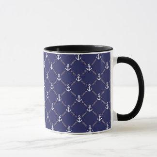 Anchor pattern mug