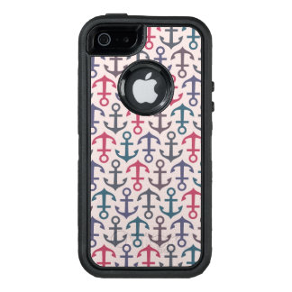 Anchor pattern OtterBox iPhone 5/5s/SE case