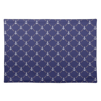 Anchor pattern placemat