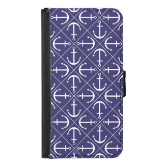 Anchor pattern samsung galaxy s5 wallet case