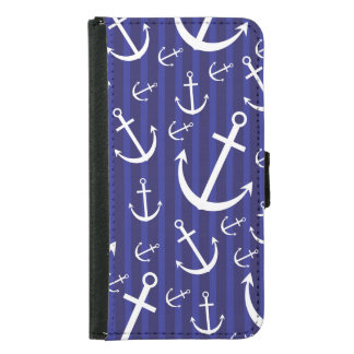 Anchor pattern samsung galaxy s5 wallet case