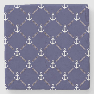Anchor pattern stone coaster