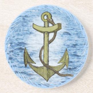 Anchor plain  coaster
