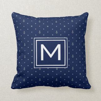 Anchor Polka Dots Pattern | Add Your Initial Cushion