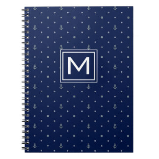 Anchor Polka Dots Pattern | Add Your Initial Notebook