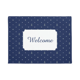 Anchor Polka Dots Pattern | Add Your Text Doormat