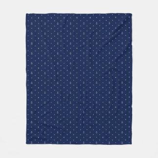 Anchor Polka Dots Pattern Fleece Blanket
