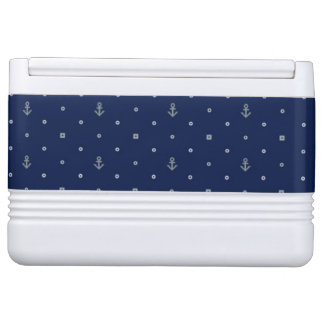 Anchor Polka Dots Pattern Igloo Cooler