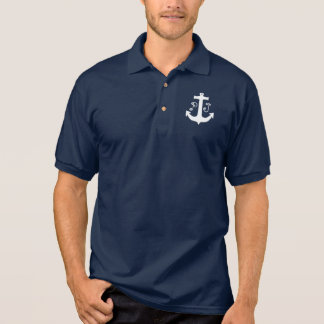 Anchor Print Logo Polo Shirt