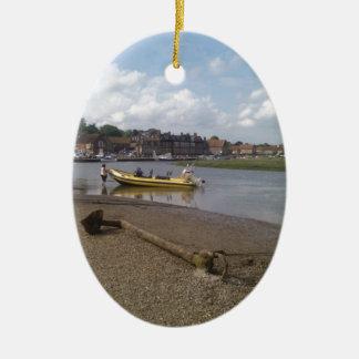 Anchor, RIB at rest Blakeney, Norfolk Christmas Ornament