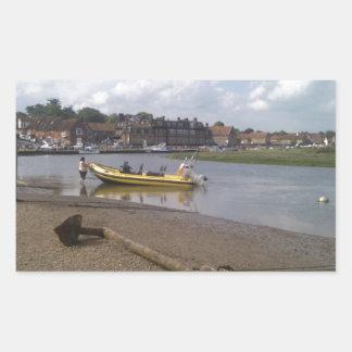 Anchor, RIB at rest Blakeney, Norfolk Rectangular Sticker