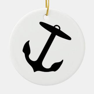 Anchor Round Ceramic Decoration