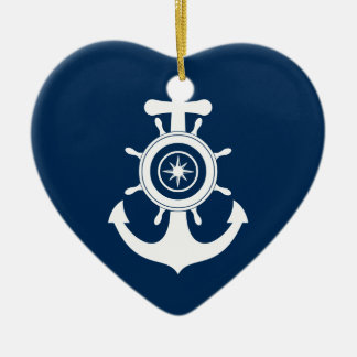 Anchor Sailor Heart ornament