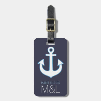 anchor ship cruisin personalized tags for luggage