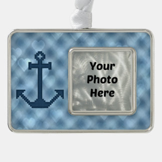 Anchor Silver Plated Framed Ornament