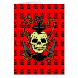 Anchor Skull Tattoo Greeting Card