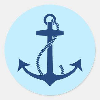 Anchor Round Sticker