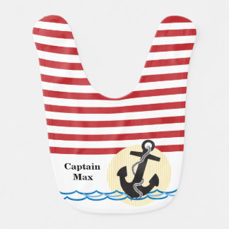 Anchor, Sun and Water Personalized Bib
