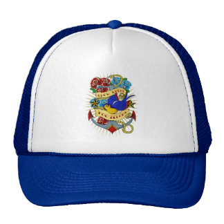 Anchor, Swallow and Roses Mesh Hats