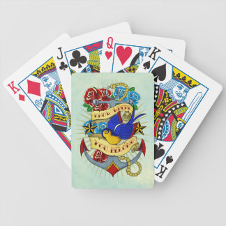 Anchor Swallow and Roses Card Decks