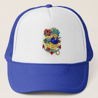 Anchor, Swallow and Roses Trucker Hat