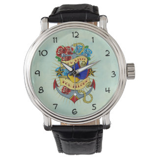 Anchor, Swallow and Roses Watch