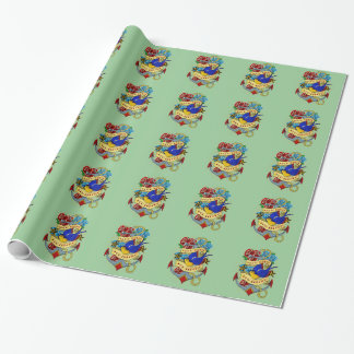 Anchor, Swallow and Roses Wrapping Paper