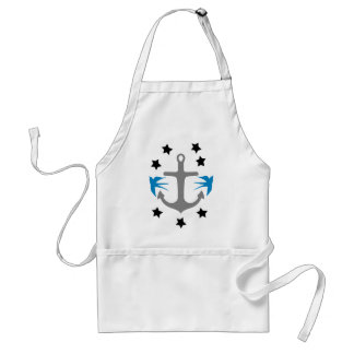 Anchor, Swallows and Stars Standard Apron
